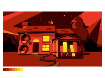 Styleframe Doritos illustration loud sound speakers animation styleframe design house stayhome