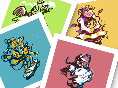 Character Collection illustration mexican folk color drawing character characters prints colorful