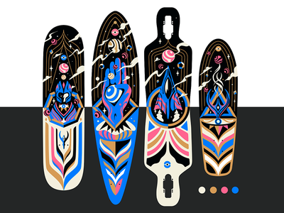 Ancient Aliens Longboards Design