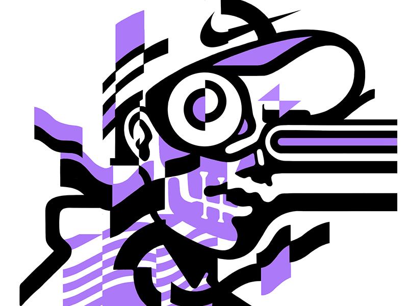 Untitled lines nike dynamic futuristic graphic verctor bold movement face portrait glitch