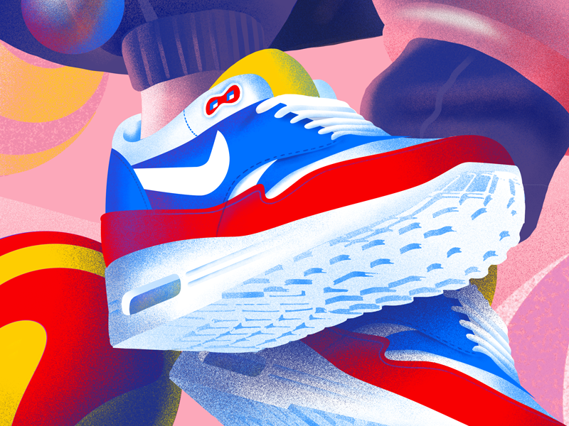 Nike Airmax texture noisy detail shapes abstract illustration sneakers air nike airmax