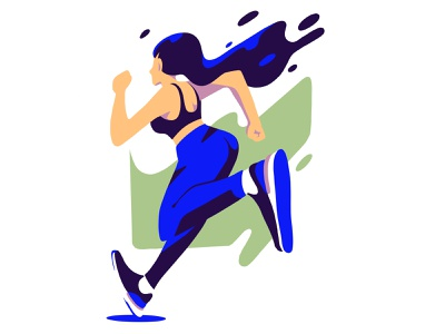 Run Girl character women shapes flat shoes react nike woman fit fitness sport race runner run running