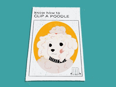 How to Clip a Poodle Book poodles dogs etsy vintage procreate illustration