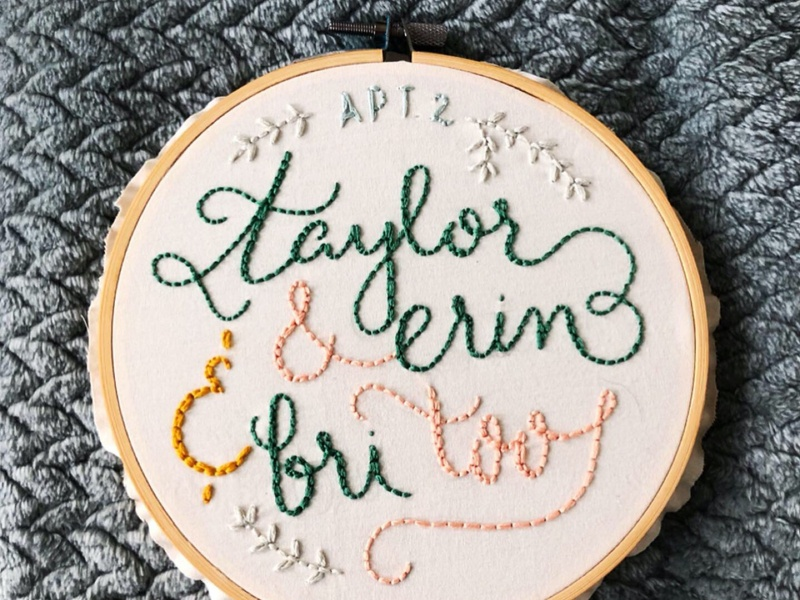 Mailbox Embroidery Hoop lettering hand lettering typography embroidery