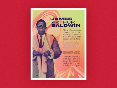 Poster Series | James Baldwin layout abstract gradient quotes history challenge poster african american