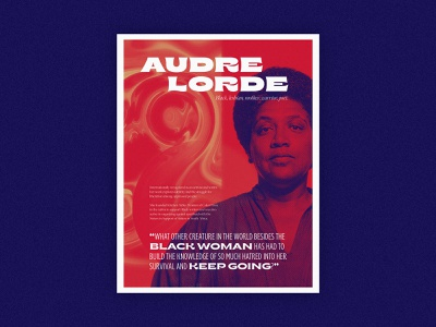 Poster Series | Audre Lorde typography layout quote abstract poster challenge poet history african american