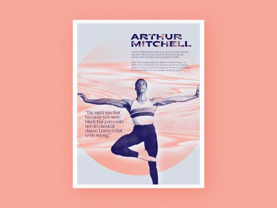 Poster Series | Arthur Mitchell challenge pattern abstract poster history ballet african american pastel