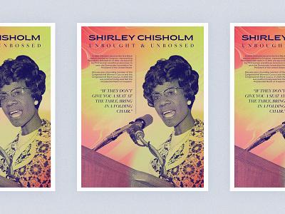 Poster Series | Shirley Chisholm typogaphy layout women challenge poster gradient african american feminist