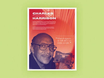 Poster Series | Charles Harrison layout history gradient poster challenge african american