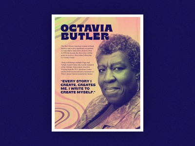Poster Series | Octavia E. Butler layout abstract gradient challenge poster history authors african american