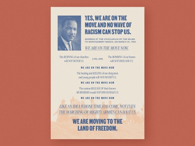 MLK history layout typography poster civil rights martin luther king mlk
