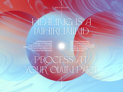 Note To Self #010 marbling texture sunset mindfulness personal project poster gradient note to self typography dreamy