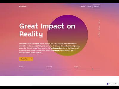 Webflow Website Project animation webdesign