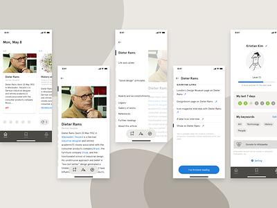 ReadWiki ios mobile app design app mobile ui mobile