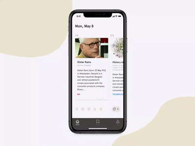 ReadWiki - Navigating the article mobile design mobile ui ui navigation interaction prototype animation mobile