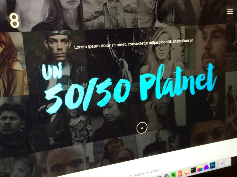 Website on process web design hero typography blue