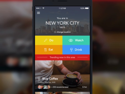 Mustago - Home app city ios travel made with invision