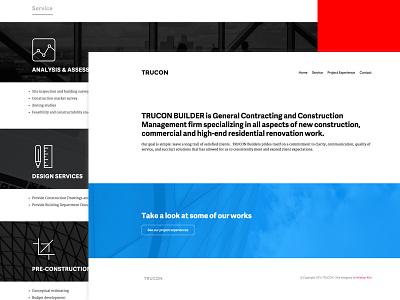 Trucon Website website black white minimal web design