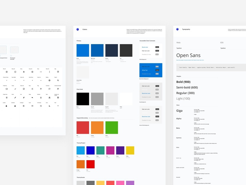 MOS Design System icon typography colors ui desktop design system