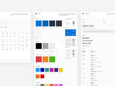 MOS Design System icon typography colors ui desktop design system