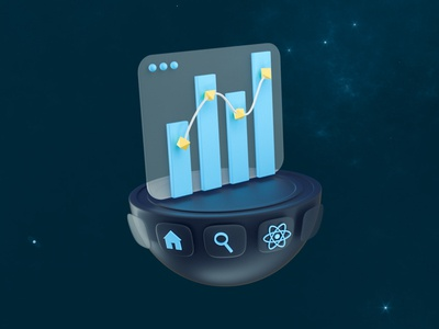 React - Performance space stars web design icon web interface data infography programming code react performance low poly 3d illustration octane design illustration 3d cinema 4d