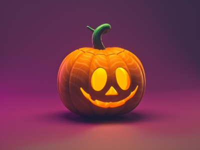 Just another pumpkin 3d illustration low poly motion graphics octane design illustration 3d cinema 4d pumpkins spooky jack o lantern pumpkin halloween