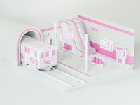 Metro Station (Pink Line)