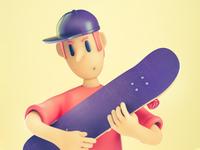 Skater loving its board