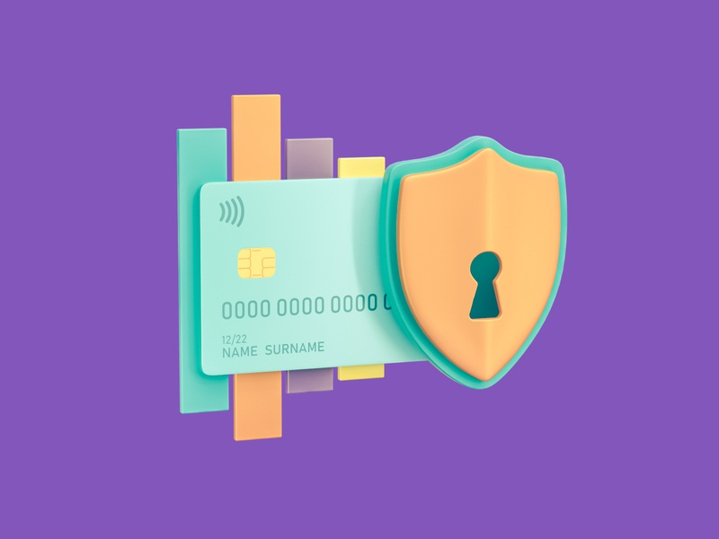 Financial Security hero icons octane cinema 4d lock financial money website web icon 3d illustration bank credit card security