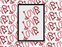 Love (حب) Pattern design