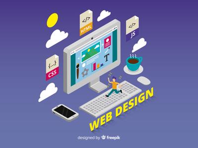Isometric Web Design Concept