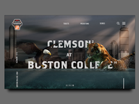 Boston College vs Clemson Landing Page