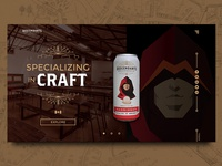 Descendants Beer & Beverage Co. - Concept Landing Page