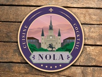 New Orleans Cuisine & Cocktail Coasters