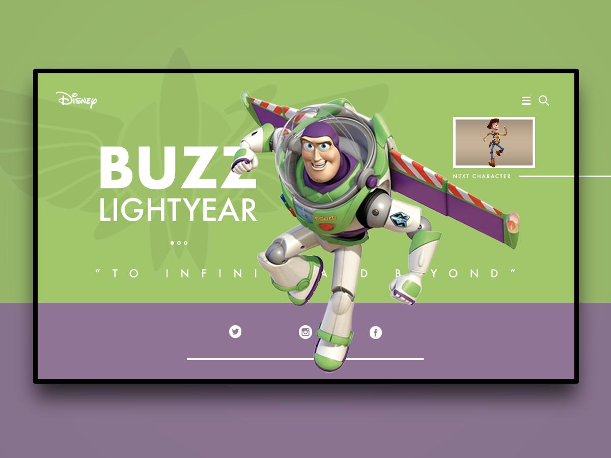 Buzz Lightyear branding tribeui thebeeest dailyui website web landing page design web design ux ui