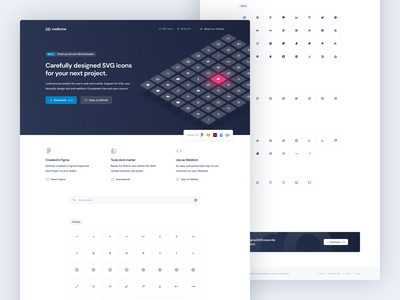 coolicons.cool | Landing Page isometric coolicons cool freebie free webflow figma icon set icon landing page website ui webdesign web
