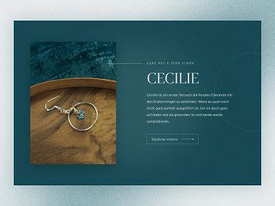 fridde | Handmade Jewelry jewelry figma jewelery website typography design photo landing page webdesign web ui