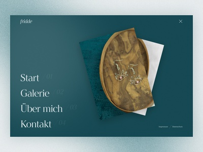 fridde | Handmade handmade Jewelry | Menu logo figma typography design photo landing page web website webdesign