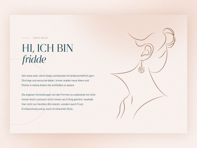 fridde | Handmade handmade Jewelry typography design simple design illustration minimal photo landing page website webdesign web