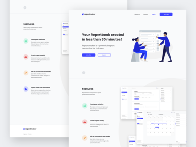 Landing page for Reportmaker