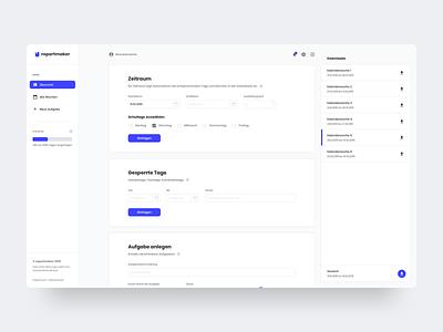 Dashboard for Reportmaker minimal logo design web simple design website webdesign dashboard ui dashboard ui