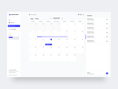 Calendar view for Reportmaker