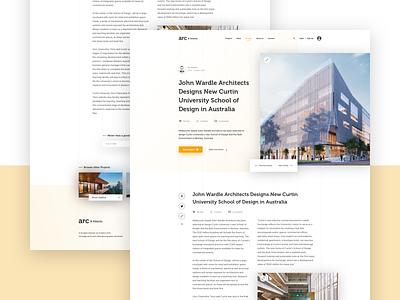 Architecture Website - Article ui typography architechture landing page photo logo website web webdesign