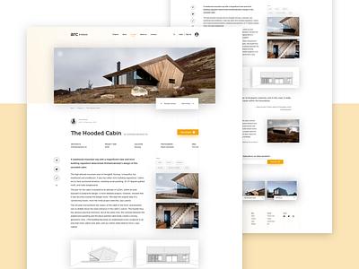 Architecture Website - Project Site architechture minimal branding logo simple design photo website landing page webdesign web