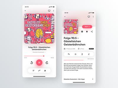 Concept for a Podcast-App design design podcast mobile app app apple design a podcast app ui design podcasts app ui podcasts podcast app podcast