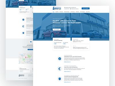 Website for a local car dealership car simple design ui web landing page website webdesign