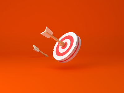 Archery target ios vector illustration icon ui archery target c4d