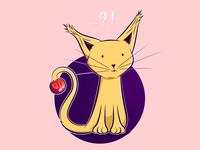 Pink Ball Cat
