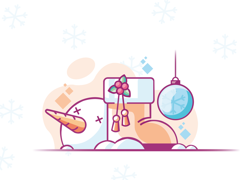 it's Christmas illustration vector