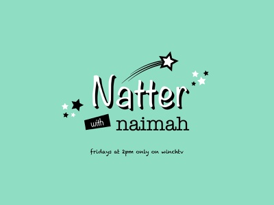 Natter with Naimah - Title Sequence typography type tv title sequence titles motion graphics motion graphic design flat colour broadcast branding animation